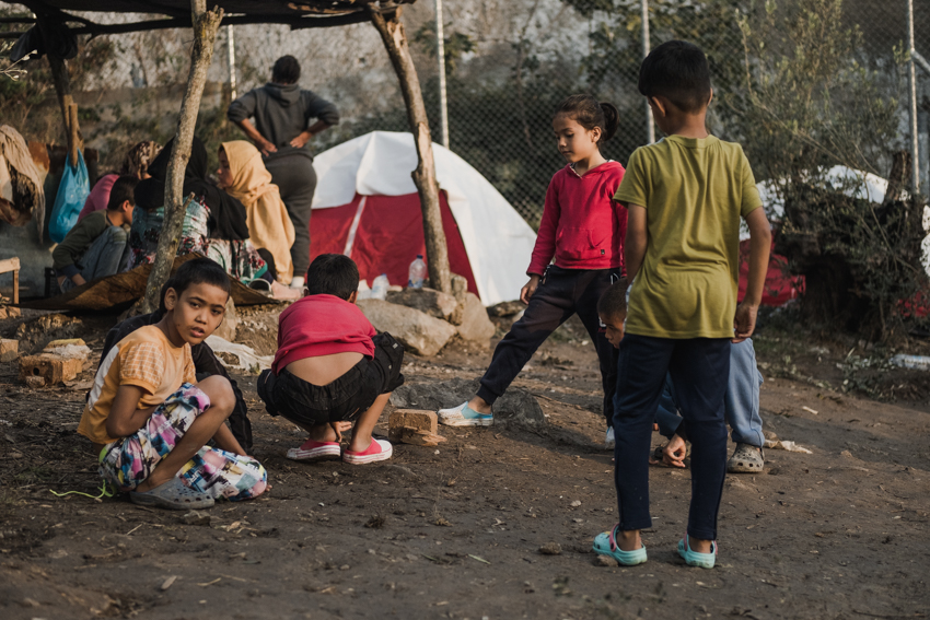 Kinderen op Lesbos