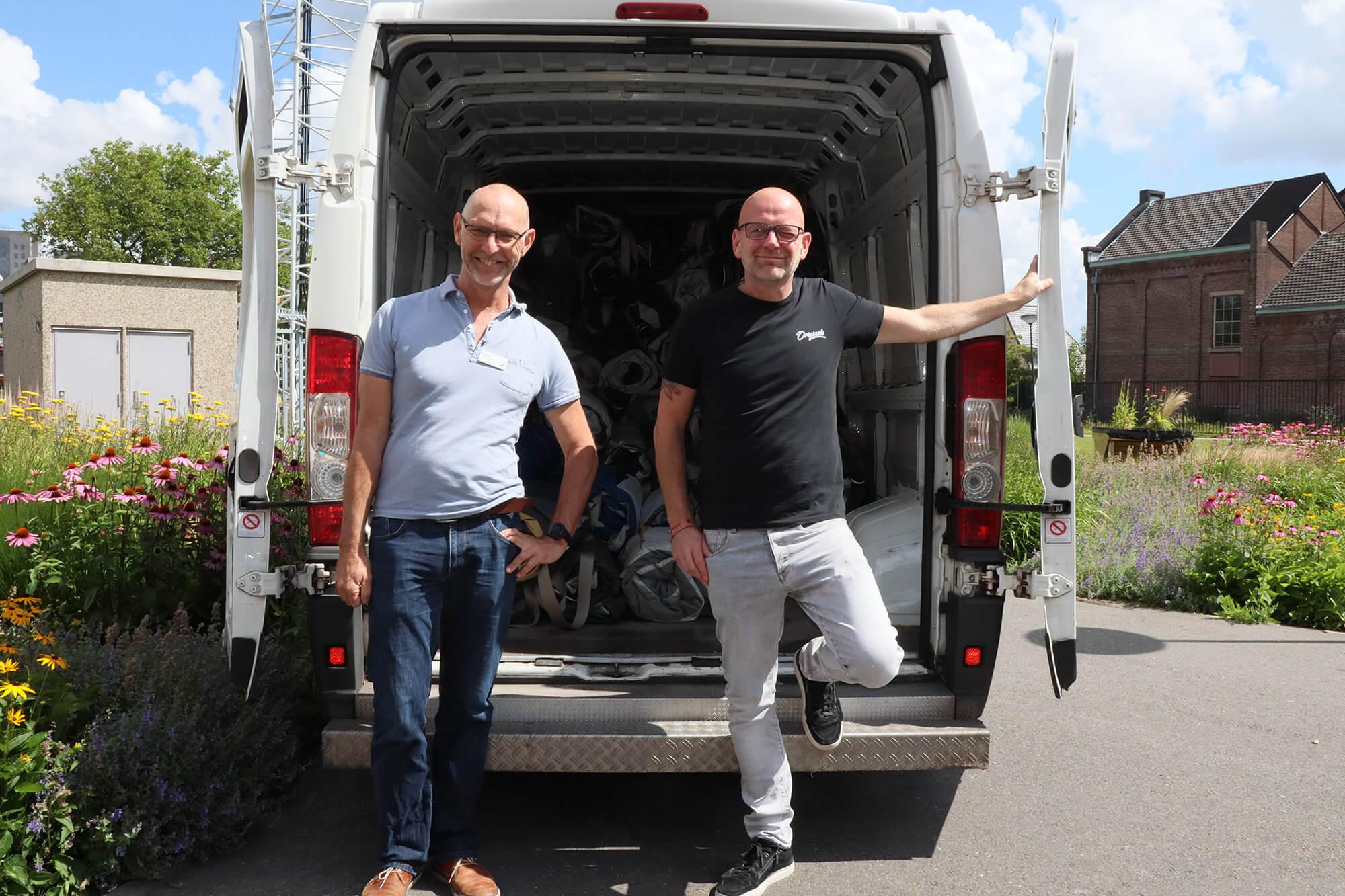 100 Shelterbags geleverd aan De Binnenvest