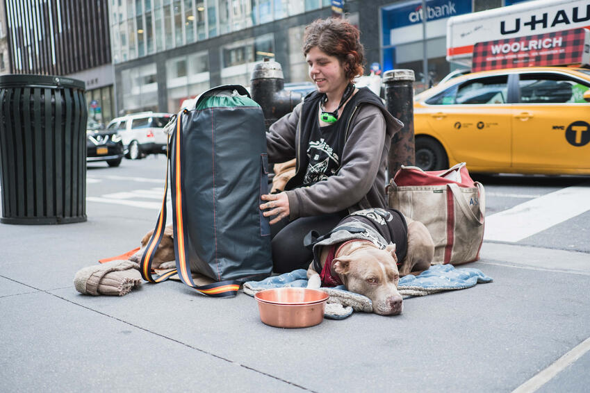 Homeless people in New York