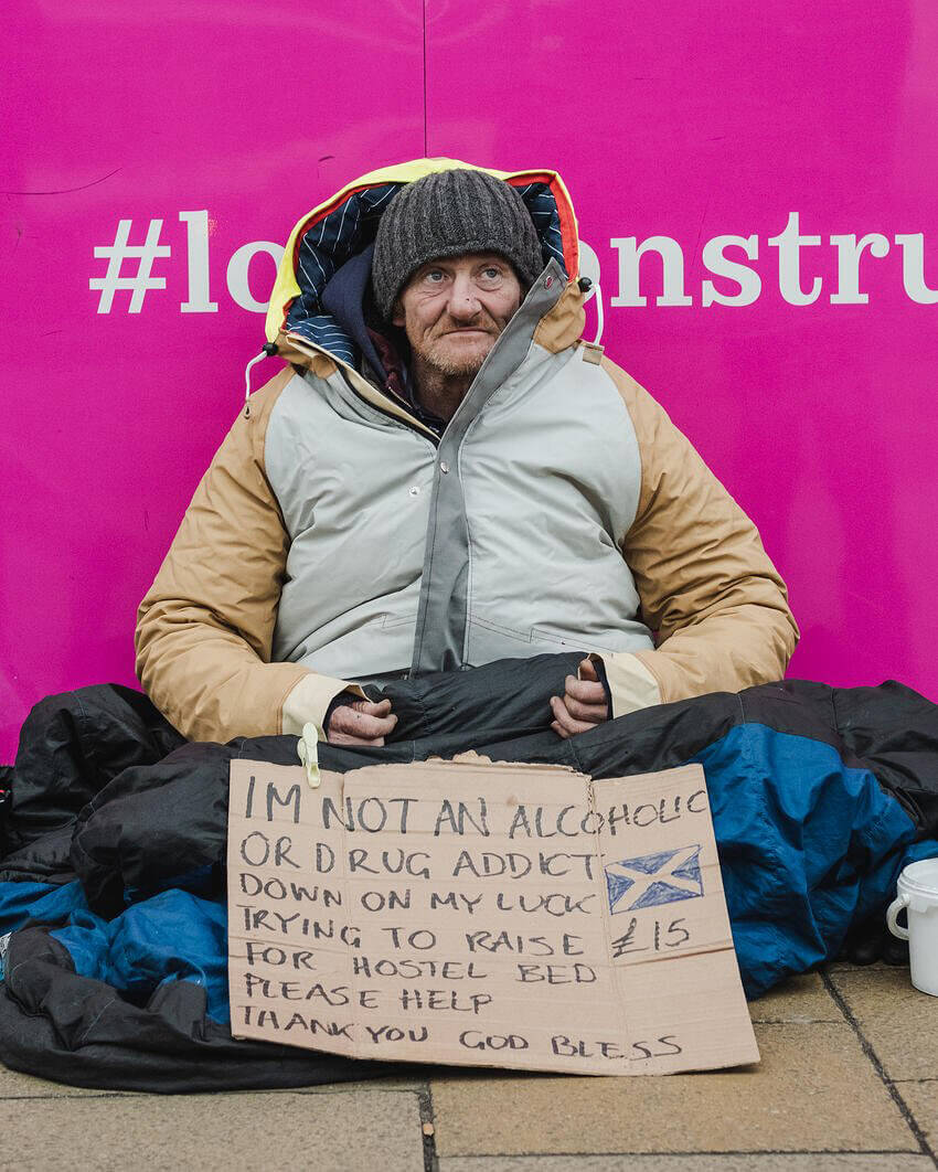 Homeless in Edinburgh with a sheltersuit
