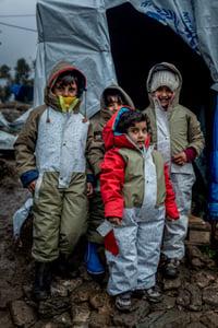 Vluchtelingenkinderen op Lesbos