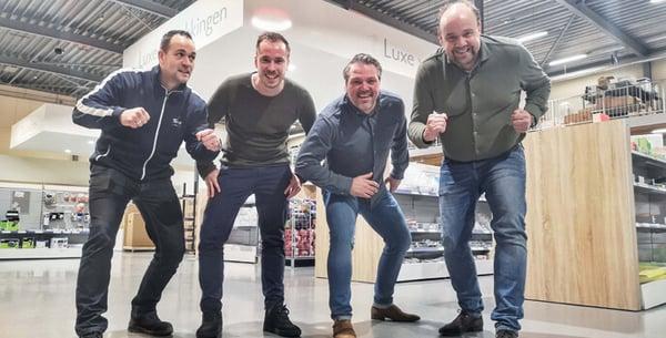 Coen, Rick, Dennis en Arnoud, Twepa.