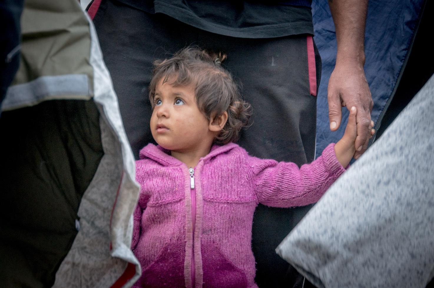 Vluchtelingenkind op Lesbos 2017