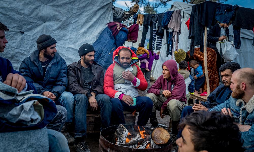 Syrische vluchtelingen wachten maanden op het starten van hun asielprocedure op Lesbos. Foto: Michiel Kole.